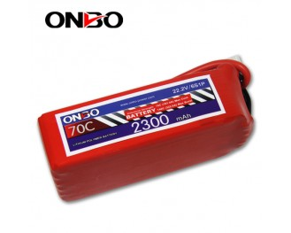 70C 6S 2300mAh lipo,2300mah small lipo,ONBO 6S 70C lipo,22.2V lipo battery