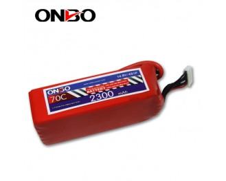 70C 4S 2300mAh lipo,2300mah small lipo,ONBO 4S 70C lipo,14.8V lipo battery
