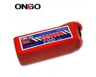 70C 5S 2300mAh lipo,2300mah small lipo,ONBO 5S 70C lipo,18.5V lipo battery