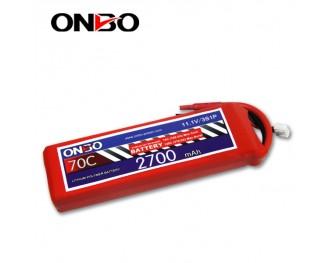 70C 3S 2700mAh lipo,2700mah small lipo,ONBO 3S 70C lipo,11.1V lipo battery