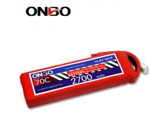 70C 4S 2700mAh lipo,2700mah small lipo,ONBO 4S 70C lipo,14.8V lipo battery