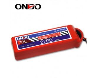 70C 6S 2700mAh lipo,2200mah small lipo,ONBO 6S 70C lipo,22.2V lipo battery
