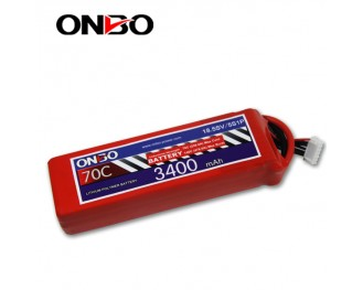 70C 5S 3400mAh lipo,3400mah small lipo,ONBO 5S 70C lipo,18.5V  lipo battery