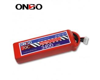70C 6S 3400mAh lipo,3400mah small lipo,ONBO 6S 70C lipo,22.2V lipo battery