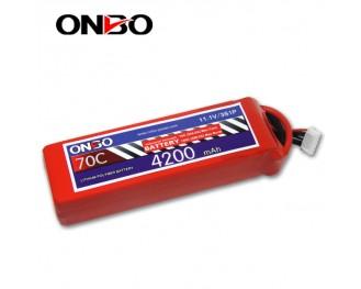 70C 3S 4200mAh lipo,4200mah lipo,ONBO 3S 70C lipo,11.1V lipo battery