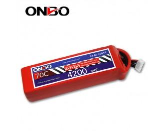 70C 4S 4200mAh lipo,4200mah lipo,ONBO 4S 70C lipo,14.8V lipo battery