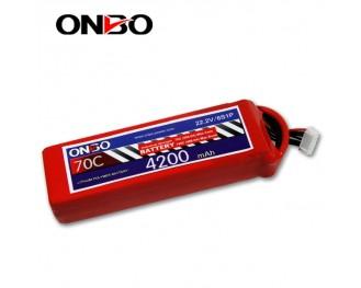70C 6S 4200mAh lipo,4200mah lipo,ONBO 6S 70C lipo,22.2V lipo battery