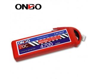 70C 2S 4700mAh lipo,4700mah small lipo,ONBO 2S 70C lipo,7.4V lipo battery