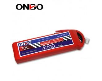 70C 3S 4700mAh lipo,4700mah small lipo,ONBO 3S 70C lipo,11.1V lipo battery