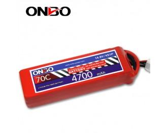 70C 4S 4700mAh lipo,4700mah small lipo,ONBO 4S 70C lipo,14.8V lipo battery