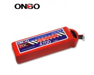 70C 6S 4700mAh lipo,4700mah lipo,ONBO 6S 70C lipo,22.2V lipo battery