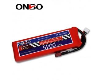 70C 3S 5200mAh lipo,5200mah small lipo,ONBO 3S 70C lipo,11.1V lipo battery