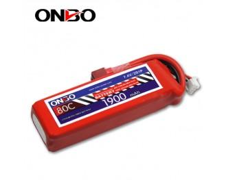 80C 2S 1900mAh lipo,1900mah small lipo,ONBO 2S 80C lipo,7.4V lipo battery