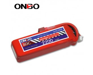 80C 4S 2200mAh lipo,2200mah small lipo,ONBO 4S 80C lipo,14.8V lipo battery