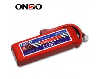 80C 5S 2200mAh lipo,2200mah small lipo,ONBO 5S 80C lipo,18.5V lipo battery