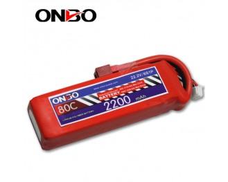 80C 6S 2200mAh lipo,2200mah small lipo,ONBO 6S 80C lipo,22.2V lipo battery