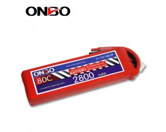 80C 3S 2800mAh lipo,2800mah small lipo,ONBO 3S 80C lipo,11.1V lipo battery