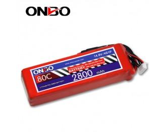 80C 4S 2800mAh lipo,2800mah small lipo,ONBO 4S 80C lipo,14.8V lipo battery