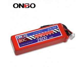 80C 5S 2800mAh lipo,2800mah small lipo,ONBO 5S 80C lipo,18.5V lipo battery