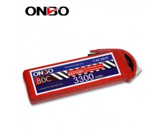 80C 2S 3300mAh lipo,3300mah lipo,ONBO 2S 80C lipo,7.4V lipo battery
