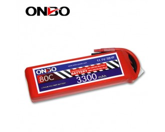 80C 3S 3300mAh lipo,3300mah lipo,ONBO 3S 80C lipo,11.1V lipo battery