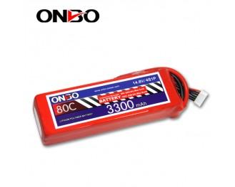 80C 4S 3300mAh lipo,3300mah lipo,ONBO 4S 80C lipo,14.8V lipo battery