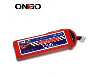 80C 6S 3300mAh lipo,3300mah lipo,ONBO 6S 80C lipo,22.2V lipo battery