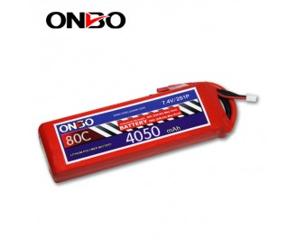 80C 2S 4050mAh lipo,4050mah small lipo,ONBO 2S 80C lipo,7.4V lipo battery