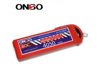 80C 3S 4050mAh lipo,4050mah small lipo,ONBO 3S 80C lipo,11.1V lipo battery