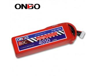 80C 4S 4050mAh lipo,4050mah small lipo,ONBO 4S 80C lipo,14.8V lipo battery