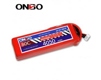 80C 6S 4050mAh lipo,4050mah lipo,ONBO 6S 80C lipo,22.2V lipo battery