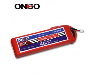 80C 2S 4600mAh lipo,4600mah small lipo,ONBO 2S 80C lipo,7.4V lipo battery