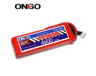80C 4S 4600mAh lipo,4600mah small lipo,ONBO 4S 80C lipo,14.8V lipo battery