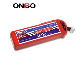 80C 5S 4600mAh lipo,4600mah small lipo,ONBO 5S 80C lipo,7.4V lipo battery