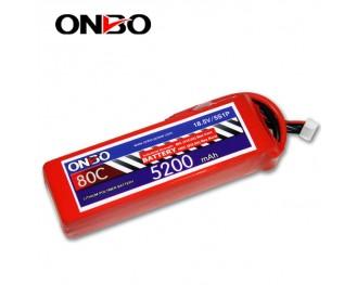 80C 5S 5200mAh lipo,5200mah small lipo,ONBO 5S 80C lipo,7.4V lipo battery