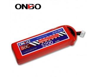 80C 6S 5200mAh lipo,5200mah lipo,ONBO 6S 80C lipo,22.2V lipo battery