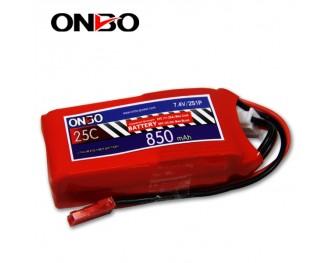 25C 2S 850mAh lipo,850mah small lipo, ONBO 2S 25C lipo,3.7V lipo battery