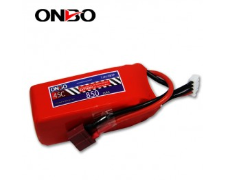 ONBO power,45C lipo battery packs,2S 7.4V 850mAh lipo battery,7.4V lipo battery
