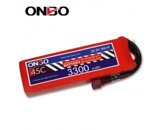 45C 6S 3300mAh lipo,3300mah lipo,ONBO 6S 45C lipo,3.7V lipo battery