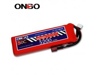 50C 3S 5200mAh lipo,5200mah lipo,ONBO 3S 50C lipo,3.7V lipo battery