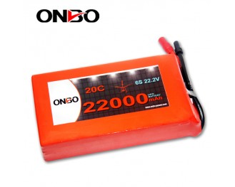 DJI S1000 Lipo Battery Pack,ONBO 22000mAh LiPO Battery Pack,22000mAh 6S1P DJI S1000 LiPO Battery Pack