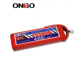 25C 3S 4500mAh lipo,4500mah lipo, ONBO 3S 25C lipo,3.7V lipo battery