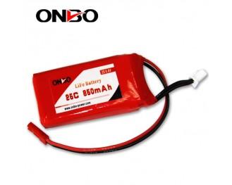 25C 850mAh 2S LiFePO4 battery, Onbo 850mAh 6.6V LiFe, Onbo 25C LiFePO4 battery, 6.6V 850mAh LiFe, 25C 850mAh RX LiFe battery