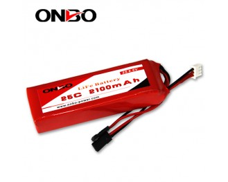 25C 2100mAh 2S LiFePO4 battery, Onbo 2100mAh 6.6V LiFe, Onbo 25C LiFePO4 battery, 6.6V 2100mAh LiFe, 25C 2100mAh RX LiFe battery