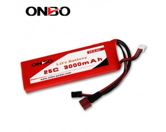 25C 3000mAh 2S LiFePO4 battery, Onbo 3000mAh 6.6V LiFe, Onbo 25C LiFePO4 battery, 6.6V 3000mAh LiFe, 25C 3000mAh RX LiFe battery