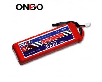 35C 2S 3000mAh lipo,3000mah lipo,ONBO 2S 35C lipo,3.7V lipo battery