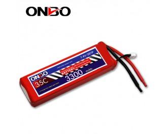 35C 2S 3300mAh lipo,3300mah lipo,ONBO 2S 35C lipo,3.7V lipo battery