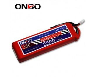 35C 4S 3300mAh lipo,3300mah lipo,ONBO 4S 35C lipo,3.7V lipo battery