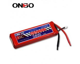 35C 2S 3800mAh lipo,3800mah lipo,ONBO 2S 35C lipo,3.7V lipo battery
