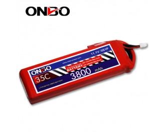 35C 3S 3800mAh lipo,3800mah lipo,ONBO 3S 35C lipo,3.7V lipo battery